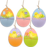 Cute easter scrapbooking tags Stock Images
