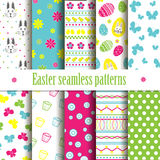 Cute easter seamless vector patterns. Stock Image