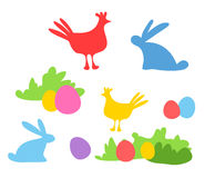 Cute easter set Stock Images