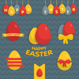 Cute Easter set of labels, ribbons and other Stock Images