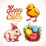 Cute Easter set Stock Image