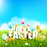 Cute Easter template Royalty Free Stock Photo