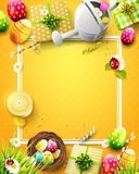 Cute Easter template Royalty Free Stock Image