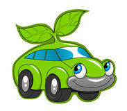 Cute eco friendly car Stock Image