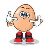 Cute egg mascot vector cartoon illustration stock illustration