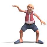 Cute elder man in short trousers Stock Photos
