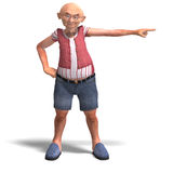 Cute elder man in short trousers Stock Image