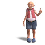 Cute elder man in short trousers Royalty Free Stock Photos