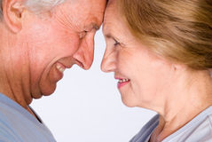 Cute elderly couple Royalty Free Stock Image