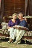 Cute elderly couple royalty free stock photos