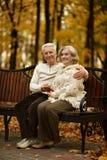 Cute elderly couple Stock Photos