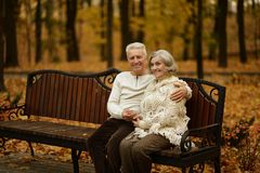 Cute elderly couple Stock Photos