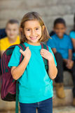 Cute elementary schoolgirl Royalty Free Stock Photography