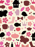 Cute elements background design Stock Images