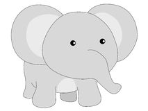 Cute Elephant. Vector Illustration image Stock Images