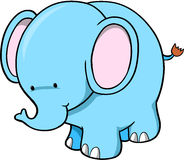 Cute Elephant. Cute Blue Elephant Vector Illustration Royalty Free Stock Photo