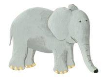 Cute elephant. Acrylic illustration of cute elephant Royalty Free Stock Image