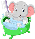 Cute elephant cartoon stock illustration