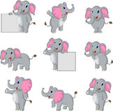 Cute elephant cartoon collection Stock Photos