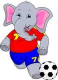 Cute elephant cartoon Royalty Free Stock Images