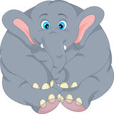 Cute elephant cartoon. Illustration of Cute elephant cartoon Stock Images