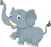 Cute elephant cartoon. Illustration of Cute elephant cartoon Royalty Free Stock Images