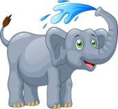 Cute elephant cartoon Stock Photography