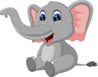 Cute elephant cartoon. Ilustration of Cute elephant cartoon Stock Images