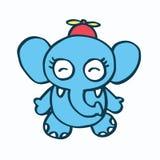 Cute elephant cartoon and propeller Royalty Free Stock Image