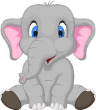 Cute elephant cartoon sitting. Illustration of Cute elephant cartoon sitting Royalty Free Stock Image