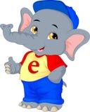 Cute elephant cartoon thumbs up Royalty Free Stock Photography