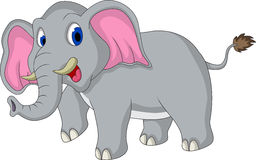Cute elephant cartoon Stock Images