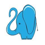 Cute elephant cartoon. Vector illustration Royalty Free Stock Photos