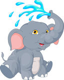 Cute elephant cartoon. Vector illustration of cute elephant cartoon Stock Photo