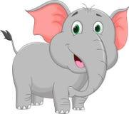 Cute elephant cartoon Stock Image