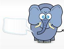 Cute elephant cartoon Royalty Free Stock Images