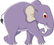 Cute elephant cartoon walking Royalty Free Stock Photos