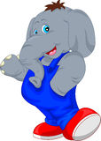 Cute elephant cartoon waving Stock Photography