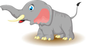 Cute elephant cartoon for you design Royalty Free Stock Photography