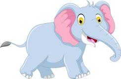 Cute elephant cartoon for you design Royalty Free Stock Photos