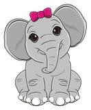 Cute elephant girl Royalty Free Stock Photography