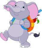 Cute elephant go to school Stock Photography