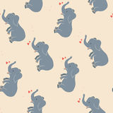 Cute Elephant pattern Stock Photos