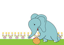 Cute elephant playing ball Royalty Free Stock Photography