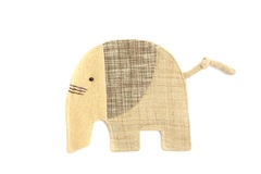 Cute elephant sew by cloth Stock Photography