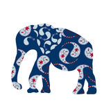 Cute elephant silhouette Royalty Free Stock Images