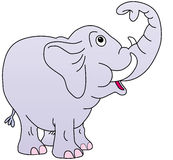 Cute elephant, trunk up, Stock Image