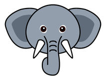 Cute Elephant Vector. Cute animal faces in  (One of 25 of them Stock Photography