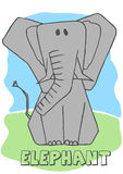 Cute Elephant. Vector illustration of an elephant Stock Image