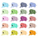 Cute elephant vector set Stock Images